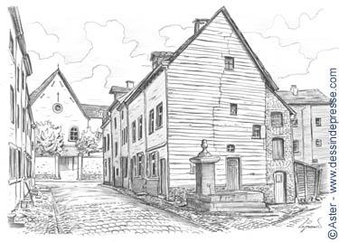Maison dessin perspective id es novatrices de la for Apprendre a dessiner une maison en 3d