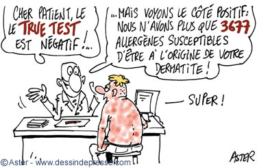 dessin sur l'allergie : true test