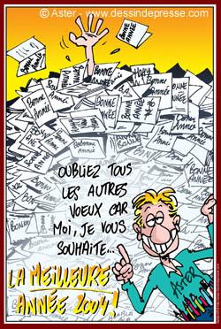 Carte bonne annee humoristique for Carte de voeux humour